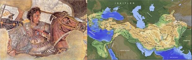 Makedonyalı III. Aleksander (20 Temmuz M.Ö. 356, Pella, Makedonya - 10 Haziran M.Ö. 323, Babil)  Makedonyalı Büyük İskender sfenksi ve devlet sınırları.