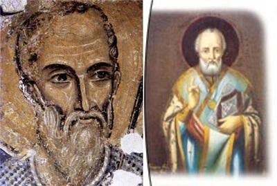4ncü yüzyılda Batı Antalya'da yaşayan Aziz Nikola.