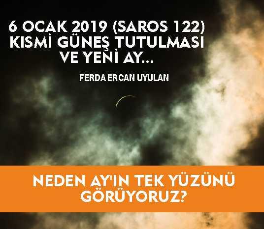 6 Ocak 2019 Saros 122 Kısmi Güneş Tutulması Ve Yeni Ay Neden Ay